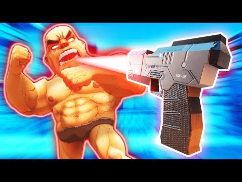 SUPER SIZE GUN MAKES MASSIVE GLADIATORS IN GORN VR (GORN Virtual Reality HTC Vive Funny Gameplay)