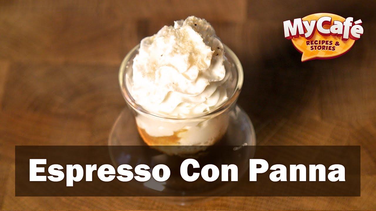 Espresso Con Panna Recipe My Cafe