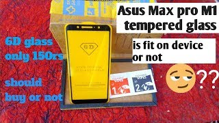 asus zenfone max pro m1 best tempered glass unboxing, review in hindi!best screen gaurd