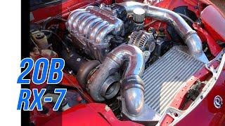 Rotary 20B turbo RX7 - Dyno & track
