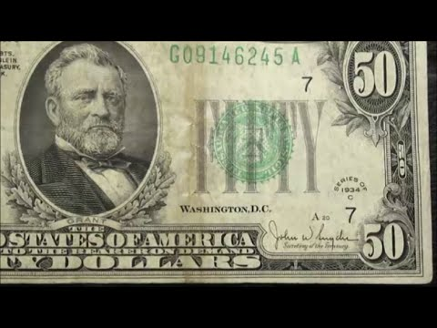 50 Bill Currency Collectors Dream Find 1934 C Fifty Dollar Note