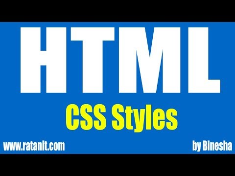 Html Tutorials | CSS STYLES  | Ratan IT | By Binesha