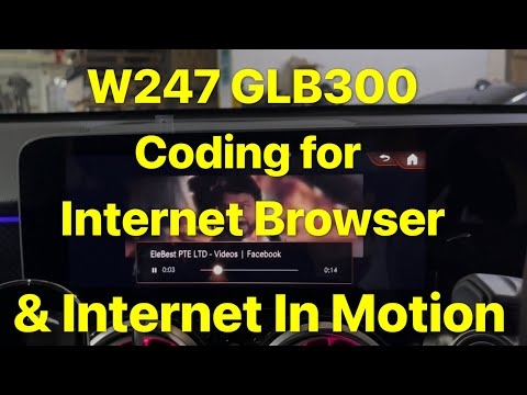 W247 GLB300 Coding for internet browser & internet in motion