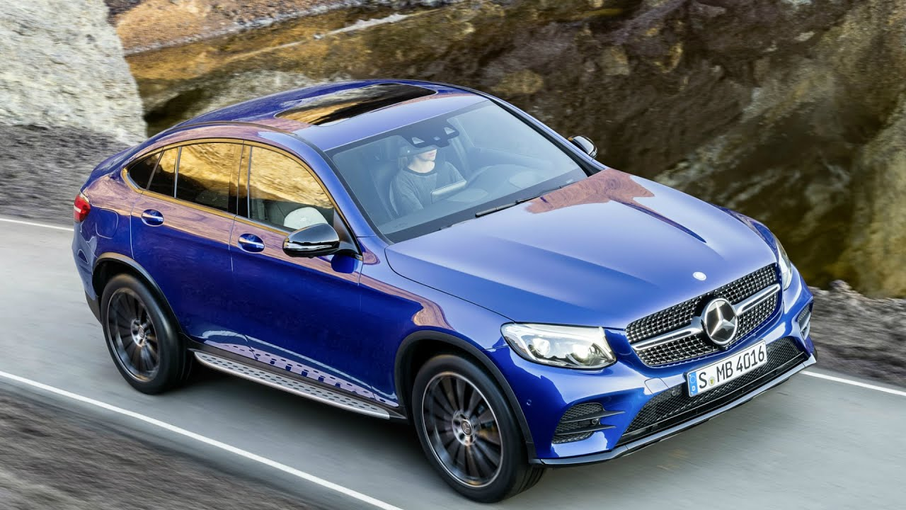 2016 mercedes glc coupe brilliant blue drive youtube. Black Bedroom Furniture Sets. Home Design Ideas
