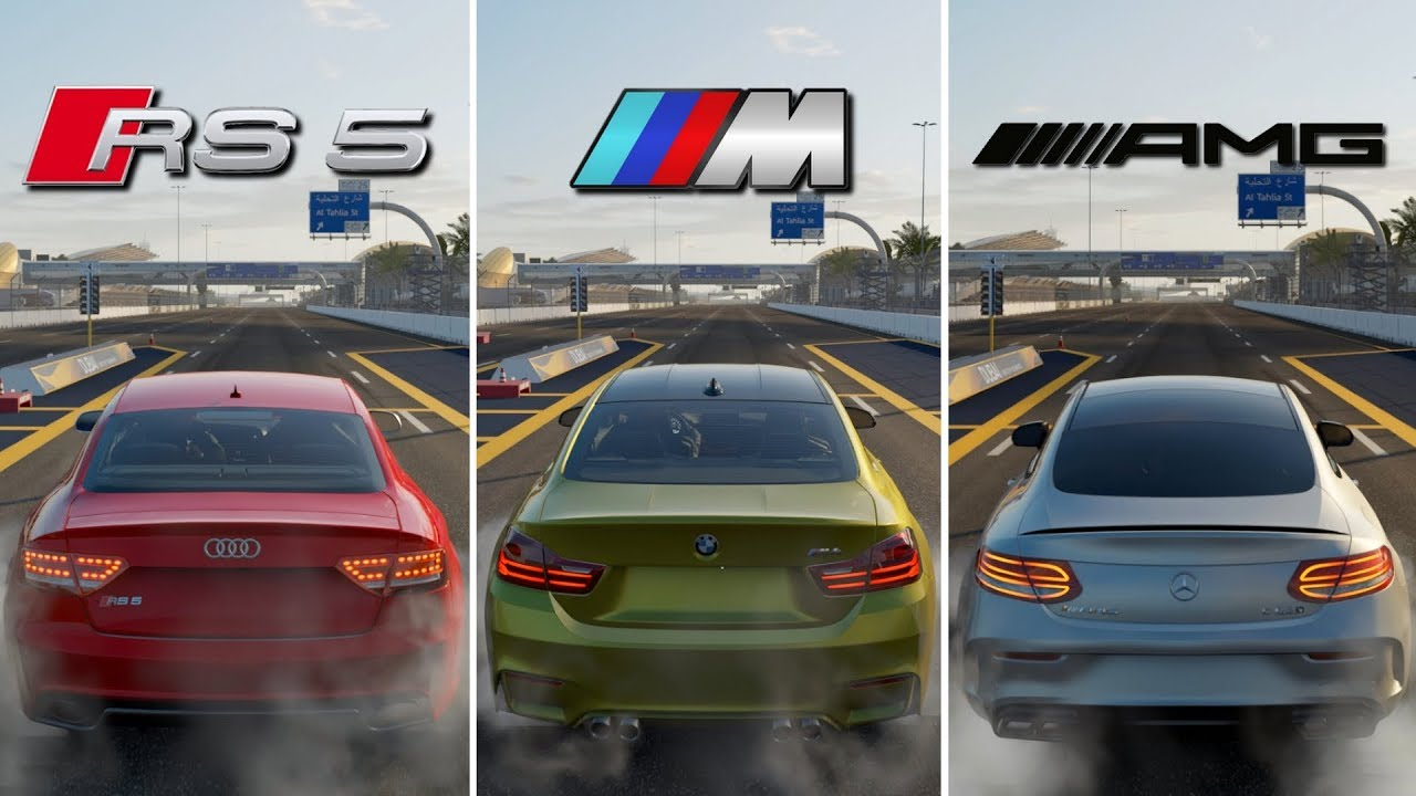 Battle Audi Rs5 Vs Bmw M4 Vs Mercedes Benz C63s Amg Forza