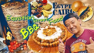 EGYPTIAN BBQ! Trying EGYPTIAN STREET FOOD in Cairo Egypt
