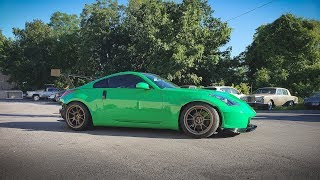 350z Gets Painted Signal Green (4k)