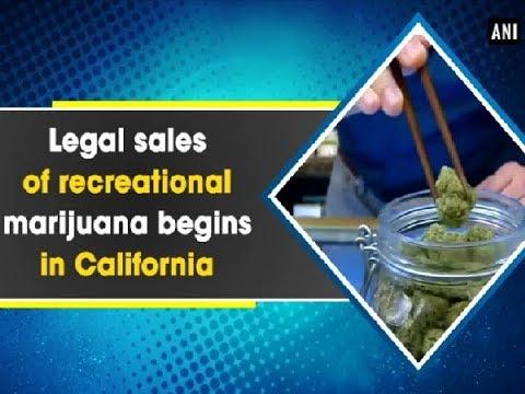 Legal sales of recreational marijuana begins in California - ANI News