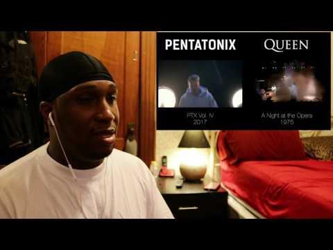 Bohemian Rhapsody   Pentatonix & Queen side by side REACTION