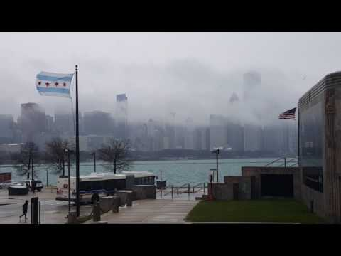 Windy city chicago from the adler planetarium a river of clouds