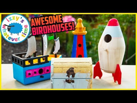 making-birdhouses!-painting-and-learning-and-playing-with-izzy's-toy-time!