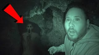 LIGHTS OUT CHALLENGE IN HAUNTED CAVE (EDGE OF YOUR SEAT SCARY!)