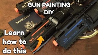 DIY - Cheap and Easy Guide on How to Custom Paint  Airsoft/Gun Trademarks
