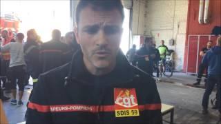 Sapeurs pompiers du SDIS Nord en grève