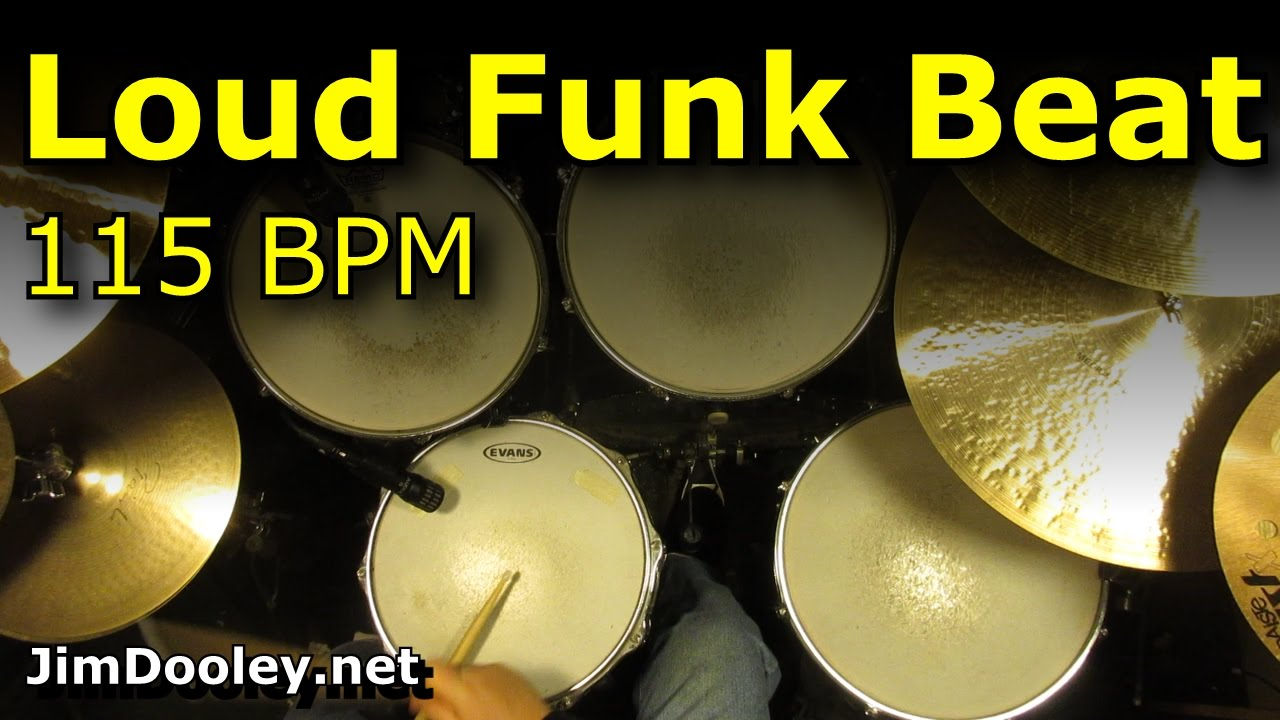 Loud Funk Drum Beat / Backing Track - 115 BPM