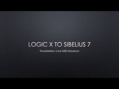 Export Logic X MIDI to Sibelius 7 or later as XML