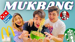 MY FIRST MUKBANG WITH MY BROTHER &amp SISTER  Rimorav Vlogs