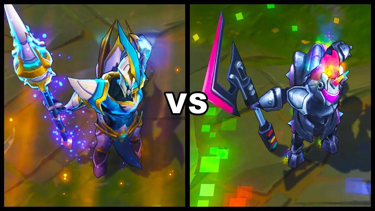 Lancer Zero Hecarim vs Arcade Hecarim Exclusive vs Epic ...