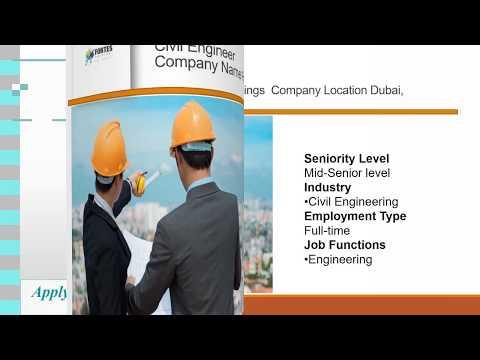 Civil Engineer job vacancy company  in dubai