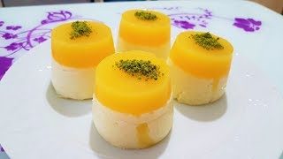 Portakal Jöleli  Sütlü İrmik Tatlısı Porsiyonluk