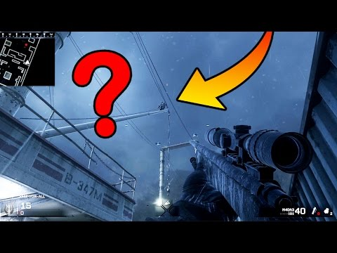 HOW DID THEY GET UP THERE?! CRAZY GLITCH SPOT ON NEW MAPS!! (HIDE N' SEEK  COD 4 REMASTERED)