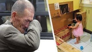 У него не было денег на подарок для дочери. Посмотрите, что он сделал с этими картонными коробками!
