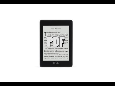 how to put pdfs on kindle paperwhite