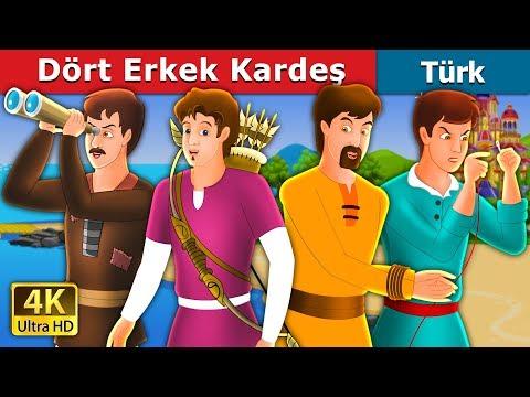 Dört Erkek Kardeş | Masal dinle | Türkçe peri masallar