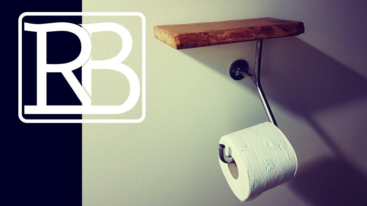 Fabriquer Un Dévidoir Papier Toilette fabriquer un support de papier toilette en metal et bois - mescreations //  ⓇⒷ