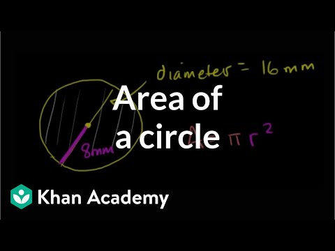 Area of a circle | Perimeter, area, and volume | Geometry |