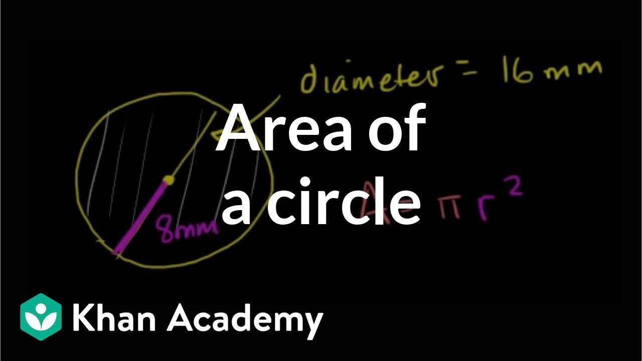 Area of a circle (video)   Geometry   Khan Academy [ 720 x 1280 Pixel ]