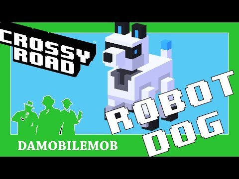 ★ CROSSY ROAD Secret Characters | ROBOT DOG Unlocked (Space Update September 2017)