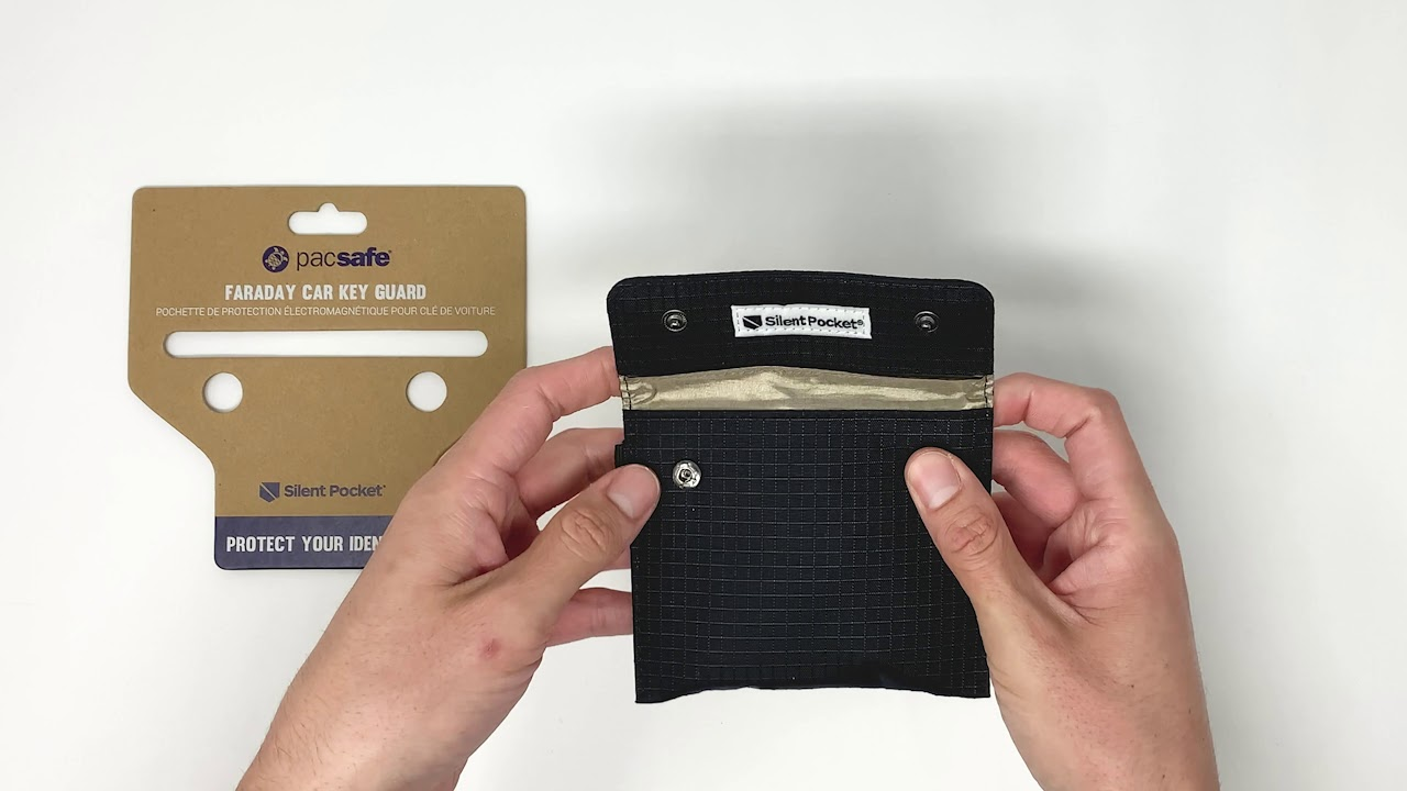 Pacsafe Silent Pocket faraday Phone Guard Jet Black