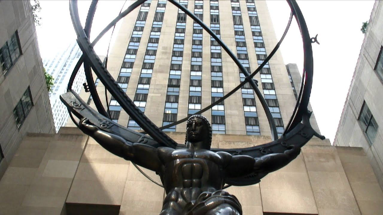 Atlas Statue front view