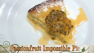 Passionfruit Impossible Pie Cheekyricho one bowl tart episode 1,117