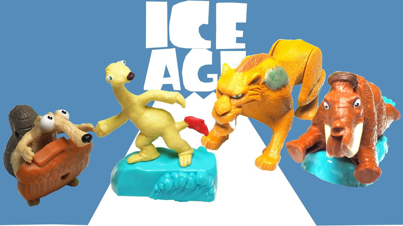 Toys From Ice Age 1 : Ice age movie toys mcdonald s happy meal kids youtube