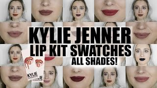 Kylie Jenner Lip Kit Swatches of ALL SHADES 2017 | Kylie Cosmetics