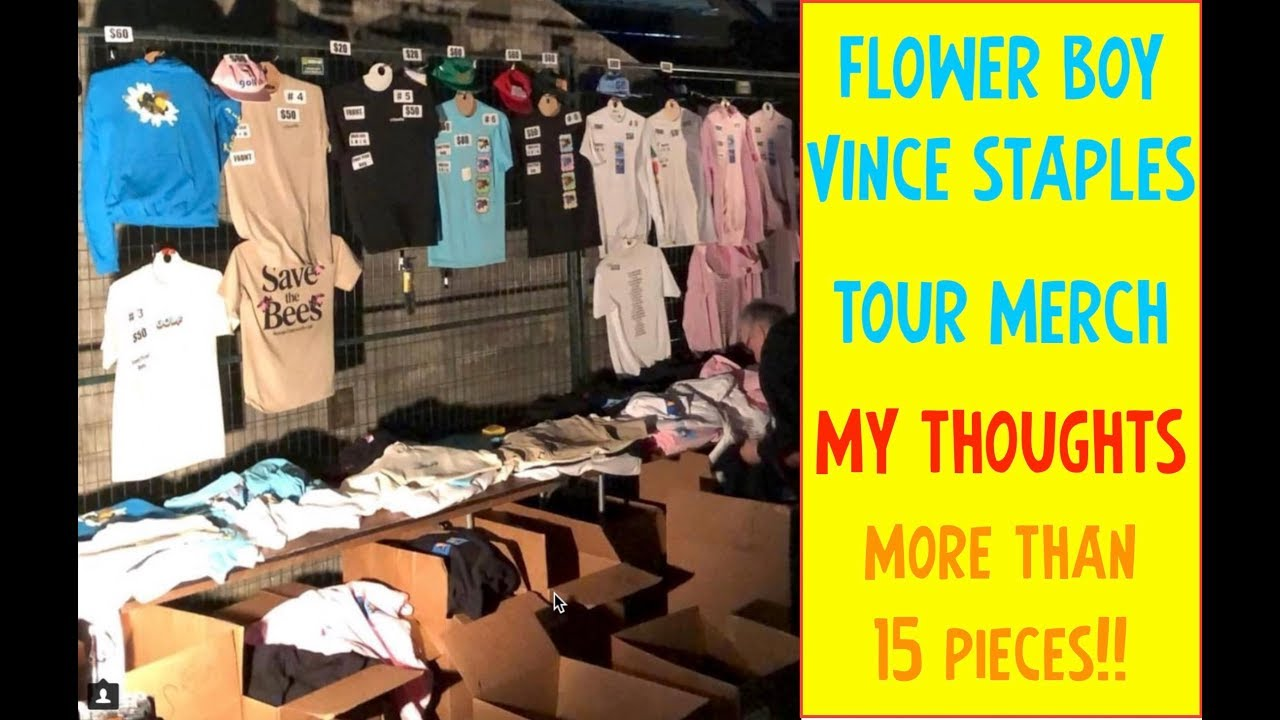 7153e4bf5d53 FLOWER BOY VINCE STAPLES TOUR MERCH!! MY THOUGHTS!🔥💩⁉ - YouTube