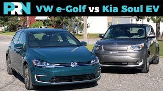 Battle for 200km EV Range | Volkswagen e-Golf vs Kia Soul EV