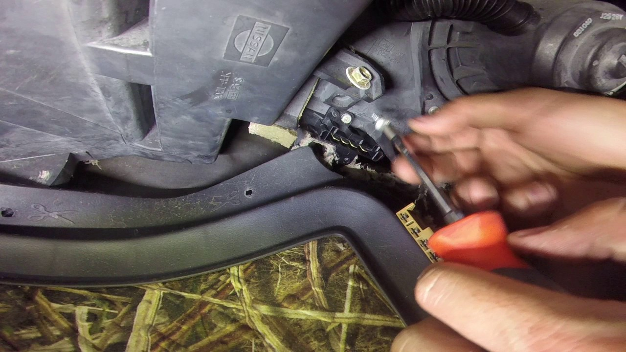 Nissan frontier blower motor resistor youtube for Nissan frontier blower motor not working