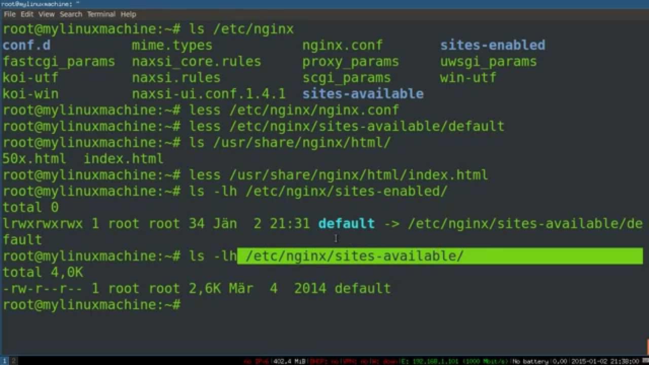 Web Server Project -- 01 Setting up Nginx