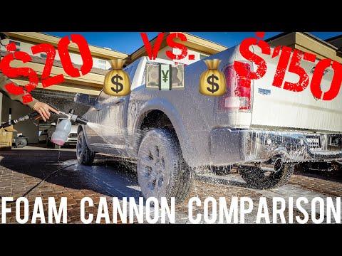 """Foam Cannon Comparison ($20 Amazon Cannon vs $150 """"Professional"""" Cannon)"""