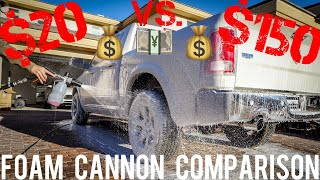 "Foam Cannon Comparison ($20 Amazon Cannon vs $150 ""Professional"" Cannon)"