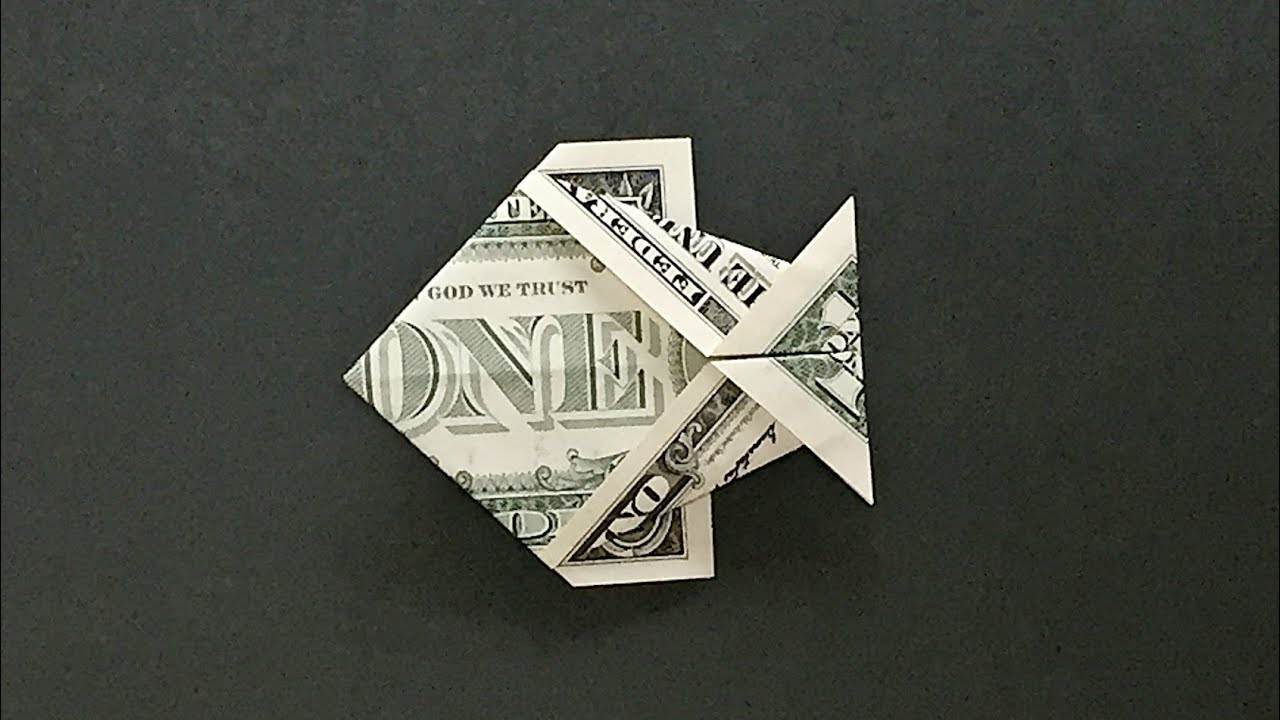 Money Origami Fish Instructions How To Fold A Dollar Bill Fish