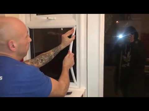 How to replace glass in a double glazed uPVC window