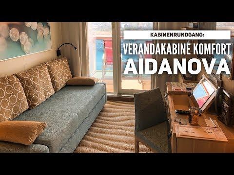 AIDAnova: Verandakabine Komfort Kabinenrundgang