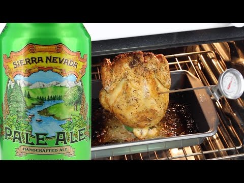 How To MAKE / COOK BEER CAN CHICKEN (OVEN)