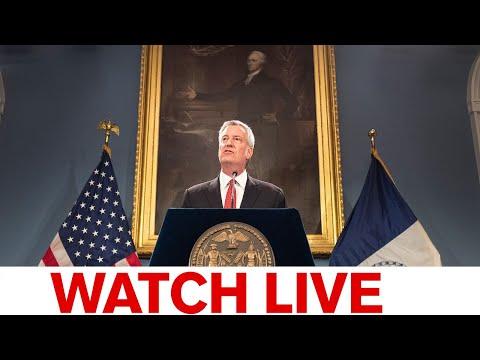 Mayor Bill de Blasio holds COVID-19 update in NYC