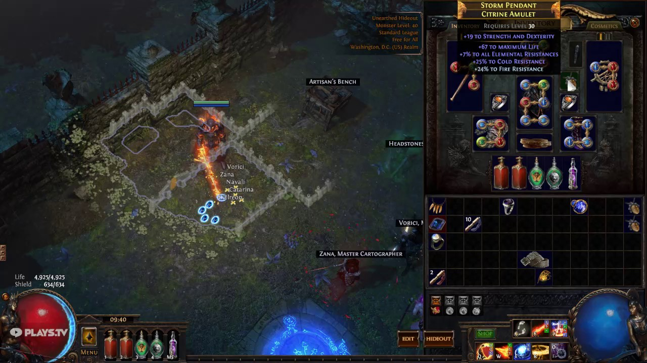 Rightnous Fire Build Poe