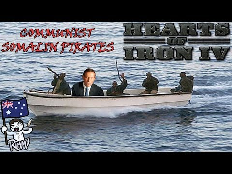 Communist Somali Pirates - Hearts of Iron 4 w/ like, mods. a lot of them. probably.